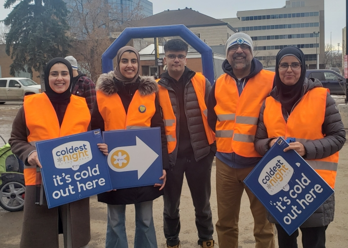 Volunteers at CNOY 2020 in Regina