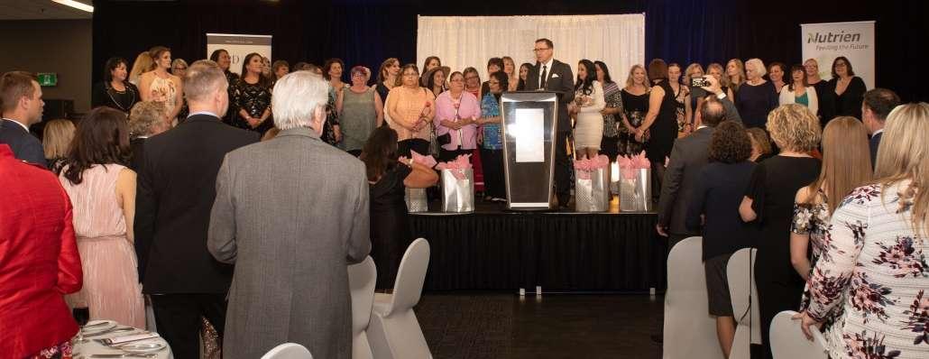 Nutrien YWCA Regina Women of Distinction Awards 2019 on stage